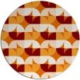 rug #552233 | round orange circles rug
