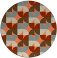 rug #552237 | round orange circles rug