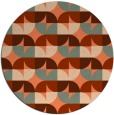 rug #552241 | round red-orange circles rug
