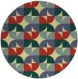 rug #552245 | round yellow circles rug