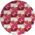 rug #552261 | round white retro rug