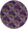 rug #552273 | round purple retro rug