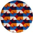 rug #552281 | round red retro rug