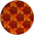 rug #552285 | round orange retro rug