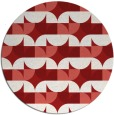 rug #552289 | round red circles rug