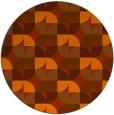 rug #552297 | round red-orange retro rug