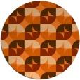 rug #552303 | round retro rug