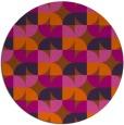 rug #552305 | round red-orange rug