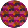 rug #552308 | round retro rug