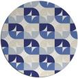 rug #552321 | round white circles rug