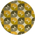 rug #552329 | round yellow circles rug