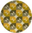 rug #552329 | round yellow retro rug