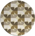 rug #552333 | round yellow circles rug