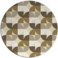 rug #552333 | round yellow retro rug