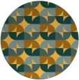 rug #552345   round light-orange circles rug