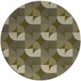 rug #552373   round light-green circles rug