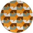 rug #552385   round light-orange retro rug
