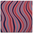 rug #552837 | square blue-violet retro rug