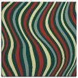 rug #552949   square yellow stripes rug