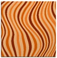 rug #553005 | square red-orange stripes rug