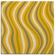 rug #553033 | square yellow stripes rug