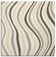 rug #553037 | square yellow stripes rug