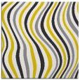 rug #553045   square yellow stripes rug