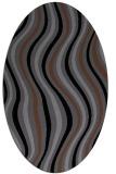 rug #553105 | oval black stripes rug