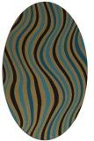 rug #553117 | oval brown retro rug