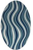 rug #553121 | oval white abstract rug