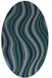 rug #553129   oval blue-green abstract rug
