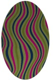 rug #553133 | oval blue retro rug