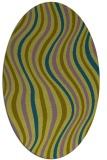 rug #553160 | oval retro rug