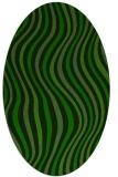 rug #553165 | oval green abstract rug