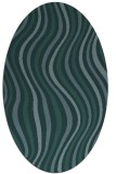 rug #553169 | oval blue-green abstract rug