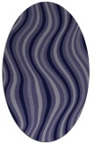 rug #553185 | oval blue-violet stripes rug