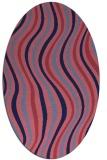 rug #553189 | oval pink popular rug