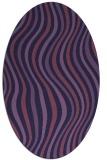 rug #553194 | oval stripes rug