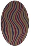 rug #553205 | oval blue-violet stripes rug