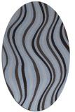 rug #553209   oval blue-violet retro rug