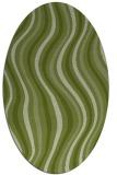 rug #553221 | oval green retro rug