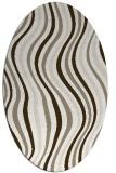 rug #553237 | oval white stripes rug