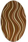 rug #553241   oval brown stripes rug