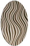 rug #553249 | oval beige stripes rug