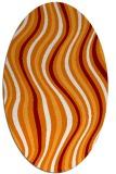 rug #553290 | oval abstract rug