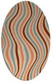 rug #553293 | oval orange retro rug