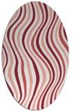 rug #553317   oval white stripes rug