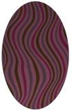 rug #553321 | oval purple stripes rug