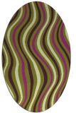 rug #553325 | oval purple abstract rug