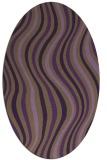 rug #553329 | oval mid-brown stripes rug